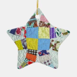 Modelo del edredón adorno navideño de cerámica en forma de estrella