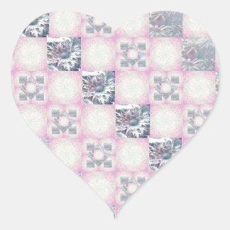 Modelo del edredón pegatina en forma de corazón
