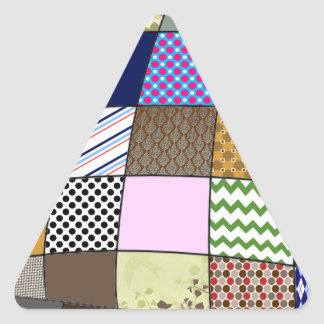 Modelo del edredón pegatina triangular