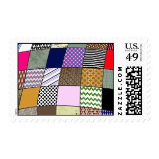 Modelo del edredón timbres postales