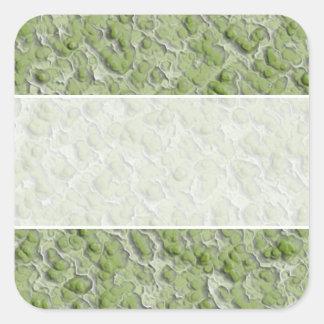 Modelo del efecto de las algas verdes pegatina cuadrada