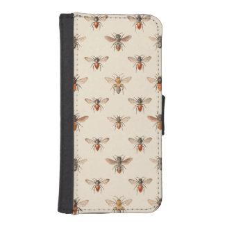 Modelo del ejemplo de la abeja del vintage funda billetera para teléfono