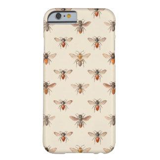 Modelo del ejemplo de la abeja del vintage funda para iPhone 6 barely there