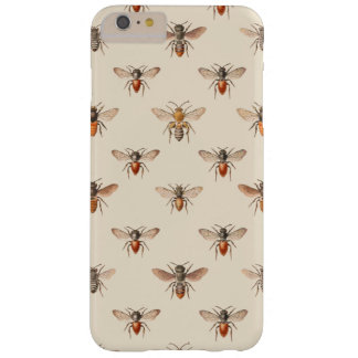 Modelo del ejemplo de la abeja del vintage funda para iPhone 6 plus barely there