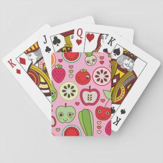 modelo del ejemplo de la cocina de la fruta barajas de cartas
