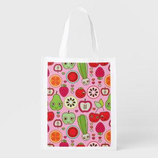 modelo del ejemplo de la cocina de la fruta bolsas de la compra