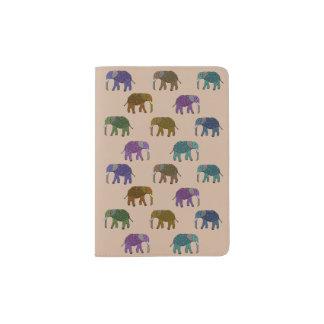 Modelo del elefante africano porta pasaporte