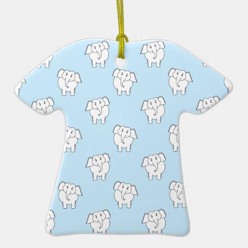 Modelo del elefante blanco en azul claro. ornamento para reyes magos