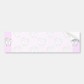 Modelo del elefante blanco en rosa pegatina de parachoque