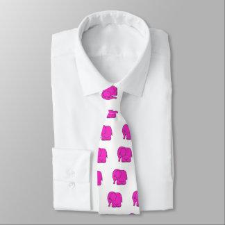 Modelo del elefante rosado corbatas personalizadas