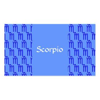 Modelo del escorpión tarjeta de visita
