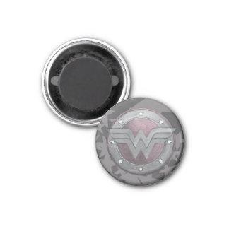Modelo del escudo de la Mujer Maravilla Imán Redondo 3 Cm