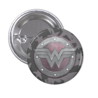 Modelo del escudo de la Mujer Maravilla Pin Redondo De 1 Pulgada