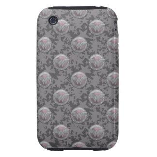 Modelo del escudo de la Mujer Maravilla Tough iPhone 3 Carcasa