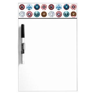 Modelo del escudo del aniversario de capitán pizarras blancas de calidad