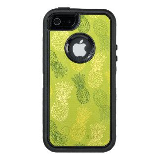 Modelo del esquema de la piña en verde funda otterbox para iPhone 5/5s/SE