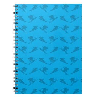 Modelo del esquí del azul de cielo libros de apuntes