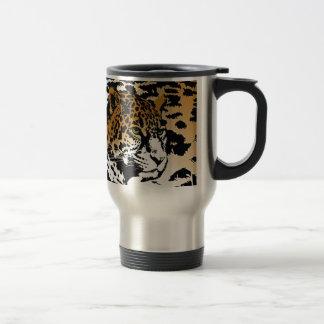 Modelo del estampado de animales del gato de pante taza de café
