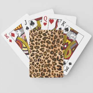 Modelo del estampado de animales del leopardo barajas de cartas
