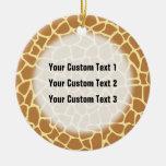 Modelo del estampado de girafa adorno de reyes