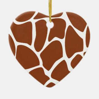 Modelo del estampado de girafa de Brown Ornamento Para Arbol De Navidad