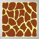 Modelo del estampado de girafa de Brown Impresiones