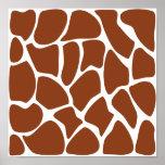 Modelo del estampado de girafa de Brown Posters