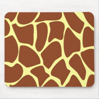 Modelo del estampado de girafa de Brown Tapete De Ratón