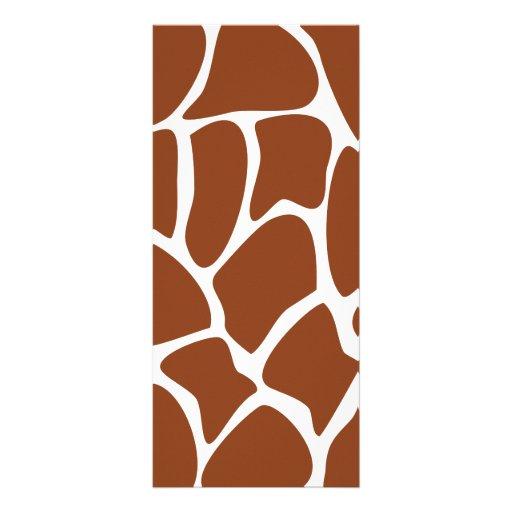 Modelo del estampado de girafa de Brown Tarjetas Publicitarias Personalizadas