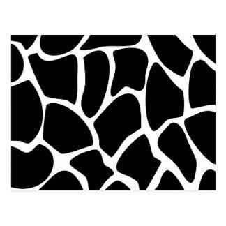 Modelo del estampado de girafa. Diseño del estampa Tarjeta Postal