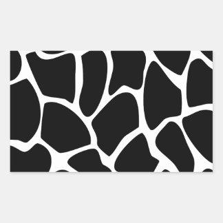 Modelo del estampado de girafa. Diseño del Pegatina Rectangular