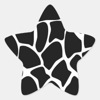 Modelo del estampado de girafa. Diseño del Pegatina En Forma De Estrella