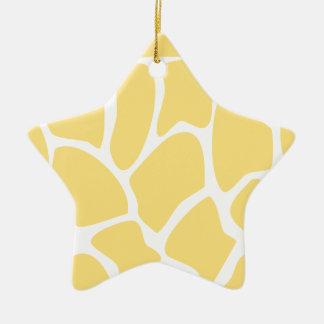 Modelo del estampado de girafa en amarillo ornamentos de reyes
