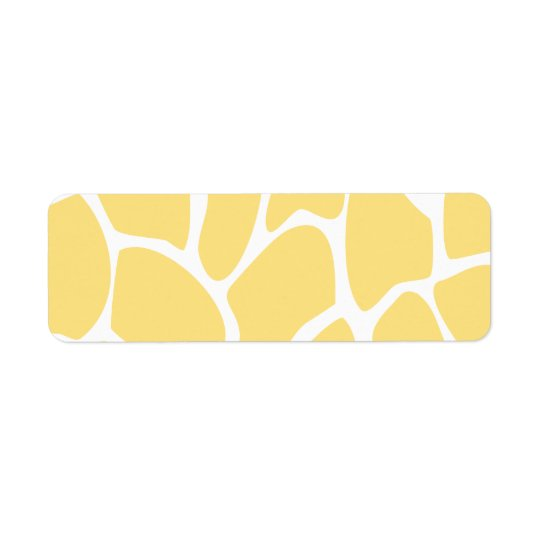 Modelo del estampado de girafa en amarillo etiquetas de remite