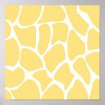 Modelo del estampado de girafa en amarillo impresiones