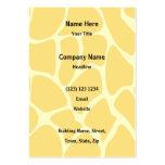 Modelo del estampado de girafa en amarillo plantillas de tarjeta de negocio