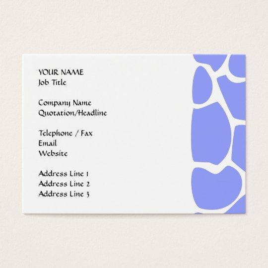 Modelo del estampado de girafa en azul de cielo tarjetas de visita grandes