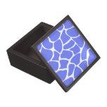 Modelo del estampado de girafa en azul del Cornflo Cajas De Recuerdo De Calidad