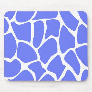 Modelo del estampado de girafa en azul del Cornflo Tapetes De Raton