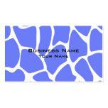 Modelo del estampado de girafa en azul del Cornflo Tarjeta De Visita