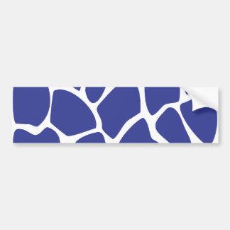 Modelo del estampado de girafa en azul marino. pegatina para auto