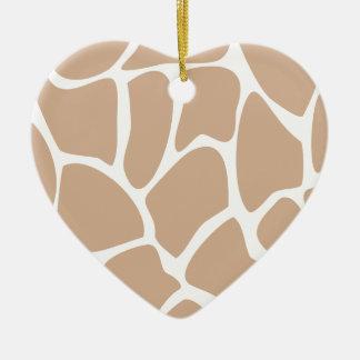 Modelo del estampado de girafa en beige adornos de navidad