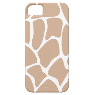 Modelo del estampado de girafa en beige funda para iPhone 5 barely there