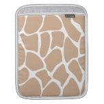 Modelo del estampado de girafa en beige funda para iPads