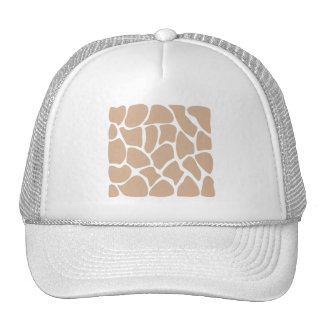 Modelo del estampado de girafa en beige gorros