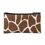 Modelo del estampado de girafa en Brown oscuro