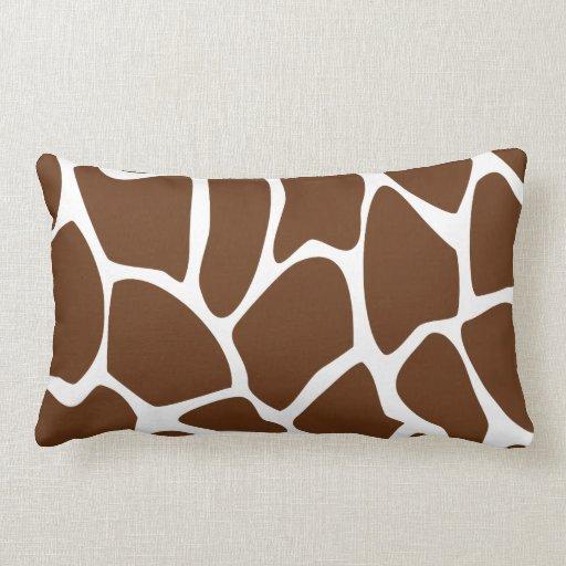 Modelo del estampado de girafa en Brown oscuro Cojín