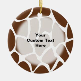 Modelo del estampado de girafa en Brown oscuro Ornaments Para Arbol De Navidad