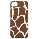Modelo del estampado de girafa en Brown oscuro iPhone 5 Cárcasa
