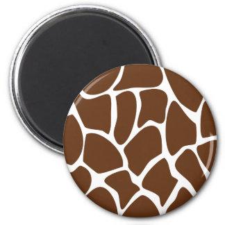 Modelo del estampado de girafa en Brown oscuro Imán Para Frigorífico